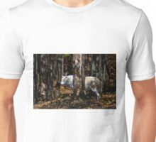 Arctic Wolf in Forest Unisex T-Shirt
