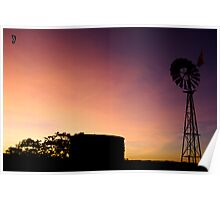 "Silhouette Windmill ""Gnarloo"" 2 Poster"