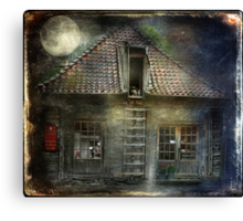 What Happens in Old Houses At Night? Canvas Print