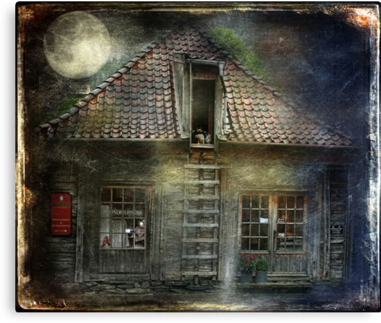 What Happens in Old Houses At Night? by © Kira Bodensted