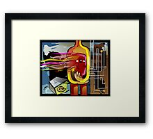 Eye prisoned in a bottle	 Framed Print