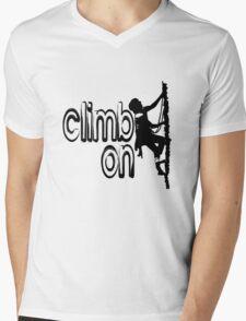 Climb on cool hoby geek funny nerd Mens V-Neck T-Shirt