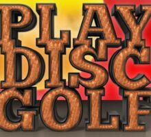 Play Disc Golf Sticker