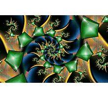 Emeralds on Satin Photographic Print