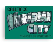 Greetings from Viridian City Canvas Print