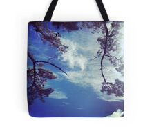 green blue & white Tote Bag