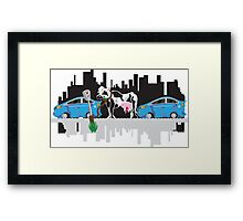 City and Country Framed Print
