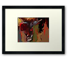 Blood shedding animal Framed Print