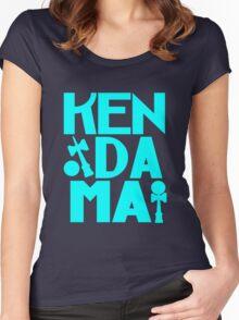 Cubed kendama 2 blue 2 geek funny nerd Women's Fitted Scoop T-Shirt