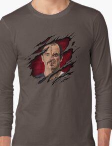 The thin line between... Long Sleeve T-Shirt