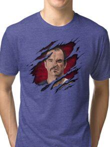 The thin line between... Tri-blend T-Shirt