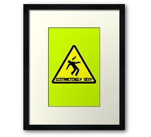 Distractingly sexy geek funny nerd Framed Print