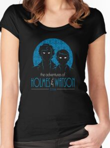 The Adventures of Holmes and Watson Women's Fitted Scoop T-Shirt