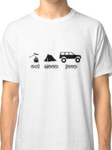 Eat sleep jeep screenprint fun geek funny nerd Classic T-Shirt