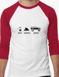 Eat sleep jeep screenprint fun geek funny nerd Men's Baseball ¾ T-Shirt