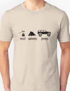 Eat sleep jeep screenprint fun geek funny nerd T-Shirt