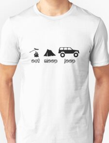 Eat sleep jeep screenprint fun geek funny nerd T-Shirt