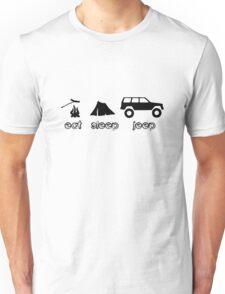 Eat sleep jeep screenprint fun geek funny nerd Unisex T-Shirt