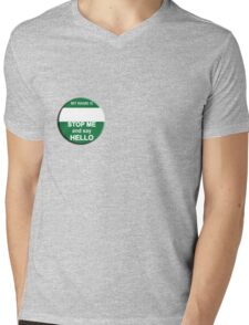 The Inbetweeners - Your own Big Gay Green badge Mens V-Neck T-Shirt