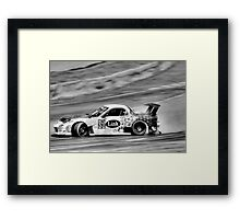 Black and White Drifter Framed Print