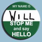 The Inbetweeners - Hi I am Will Big Gay Green badge by bleedart