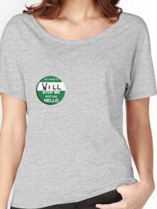The Inbetweeners - Hi I am Will Big Gay Green badge Women's Relaxed Fit T-Shirt