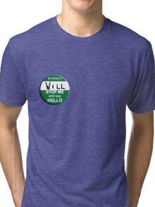 The Inbetweeners - Hi I am Will Big Gay Green badge Tri-blend T-Shirt