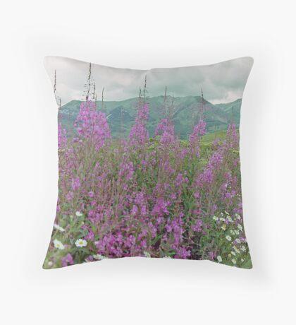 Summer Wildflowers, near Crested Butte, Colorado, USA Throw Pillow
