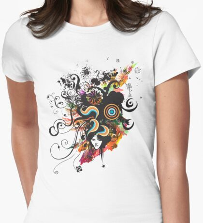 Female Thoughts Womens Fitted T-Shirt