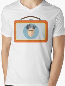 DAVID LUNCH by burro Mens V-Neck T-Shirt
