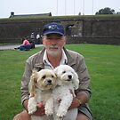 Man with Dogs at Stirling Castle by Crystallographix