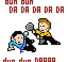 8bit Spock Kirk Amok Time by miffed