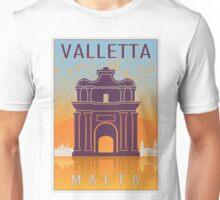 Valletta Vintage poster Unisex T-Shirt