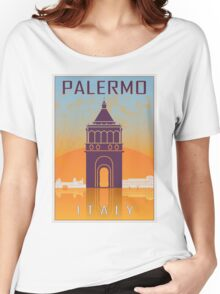 Palermo vintage poster Women's Relaxed Fit T-Shirt