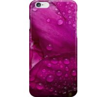 Petals and Drops - Magenta Glow Peony iPhone Case/Skin
