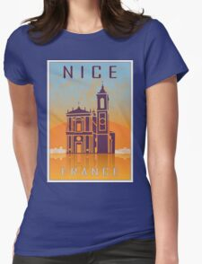 Nice vintage poster Womens Fitted T-Shirt