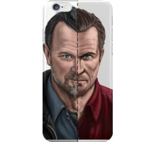 The thin line between... part 2 iPhone Case/Skin