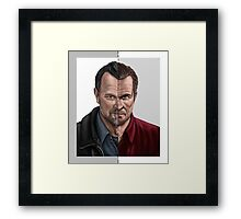 The thin line between... part 2 Framed Print