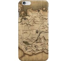 Skyrim map iPhone Case/Skin