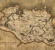 Skyrim map by Jdoyle