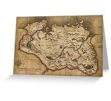 Skyrim map Greeting Card