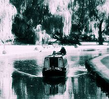 Narrowboat, scenic canal view, Middleport, Stoke-on-Trent. by imageunlimited