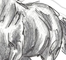 The Valiant Beast - Running Horse Sticker