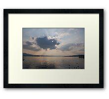 Clouds over Lake zurich Framed Print