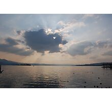 Clouds over Lake zurich Photographic Print