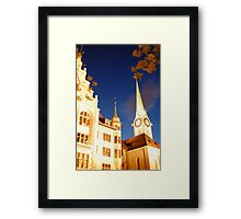 zurich church at night Framed Print