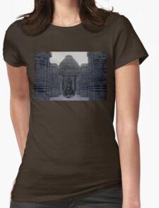 Itachi IRL uchiha temple Womens Fitted T-Shirt