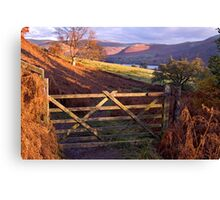 Near Ullswater - The Lake District Canvas Print