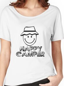 Happy camper geek funny nerd Women's Relaxed Fit T-Shirt
