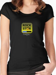 iphone Rockstar App Girly fit Women's Fitted Scoop T-Shirt